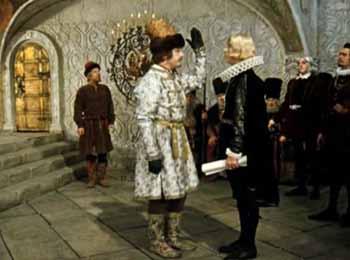 Жорж передает королю швеции пламенный