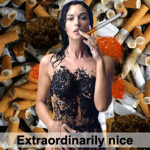 Очень хороша эта Королева-Убийца! Но пропоганда нездорового образа жизни: игра, сигареты... Это очень плохо!